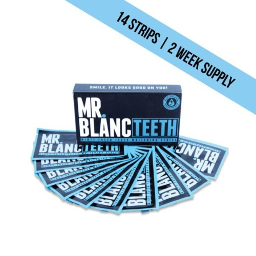 Mr Blanc Teeth Whitening Strips - 2 week supply (14 strips)