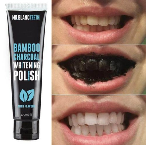 Mr Blanc Teeth Bamboo Charcoal Whitening Polish