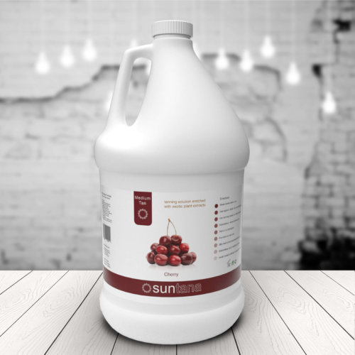 Trade Size ( groothandel fles)  Medium Tan - 4000ml Cherry